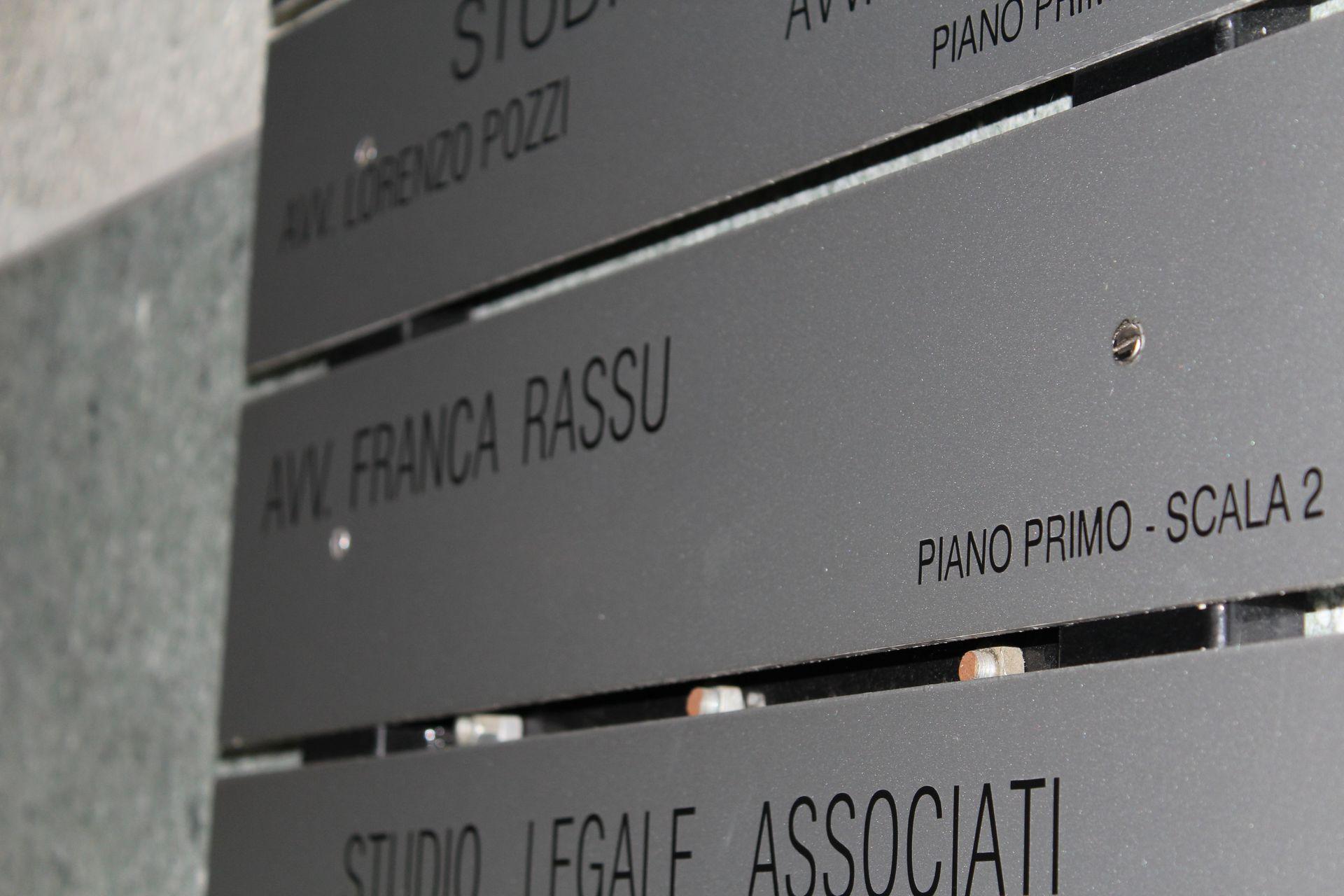 Avvocato Franca Rassu a Como - studio legale